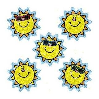 Cd-2929 - Dazzle Stickers Suns 75-pk Acid Amp;