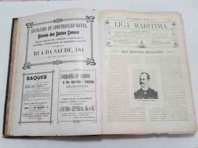 Revista Antiga 1907 Liga Maritima Brasileira - Livro Antigo
