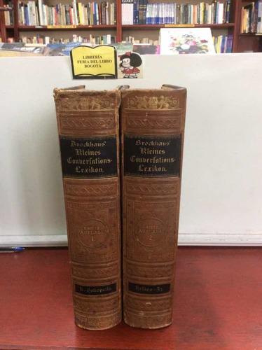 Diccionario - Aleman-alemán - Léxico De Conversación - 1879