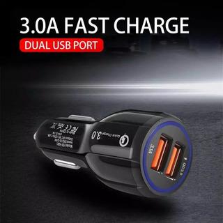 Carregador Veicular Turbo 2 Portas Usb Qualcomm 3.0