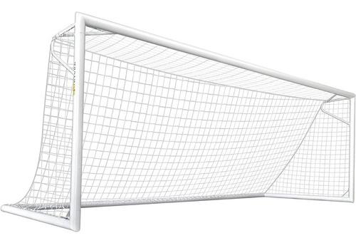 Imagen 1 de 7 de 2 Redes Arco Futbol 11 Profesional 7,5 X 2,5m Parante 30cm - Material Virgen Resistente Sol Y Lluvia