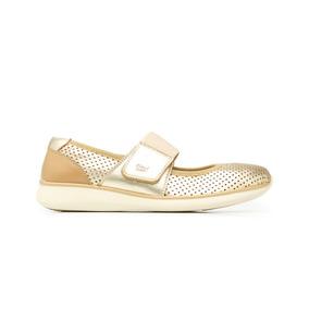 Sneaker Mary Jane 28211 Oro Flexi Dama Talla Extra 27