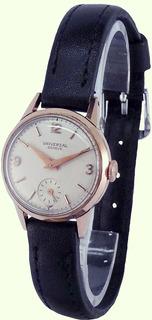 Reloj Universal Geneve Malla Cuero Dama Vintage Garantía 12m