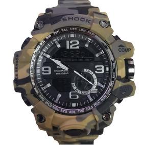 Relógio Masculino G-shock Camuflado Verde Lindo