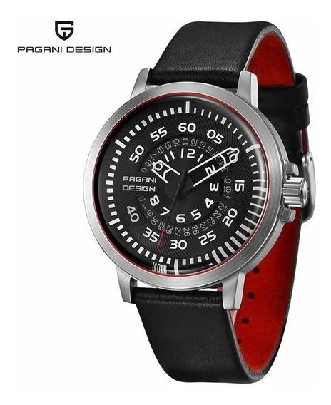 Relógio Pulseira De Couro Quartzo Pagani Design Pd-2766