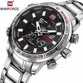 Relógio Masculino Naviforce Lançamento Luxo 2019 Cor Prata