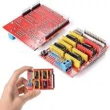 Shield Cnc V3 Eixos Xyz Para Arduino Impressora Maq Cnc