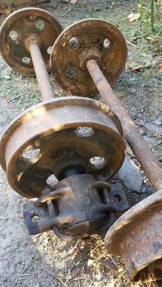 Ejes Ruedas De Zorra Minera Ferrocarril
