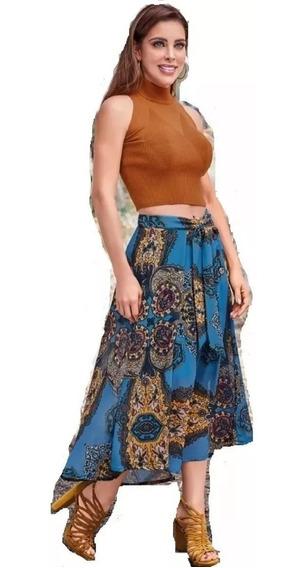 Cklass Dama Falda Maxi Azul Multicolor 091-83