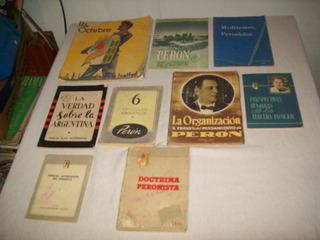Lote De 9 Artículos:libros, Revista Y Boletines De Peronismo