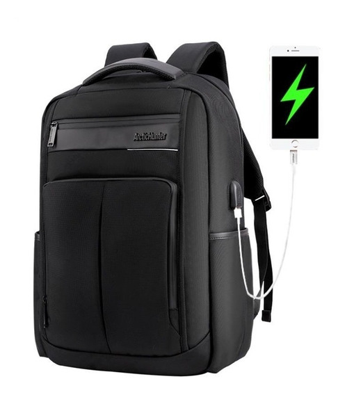 Mochila Notebook Artic Hunter Con Usb Reforzada Acolchonada