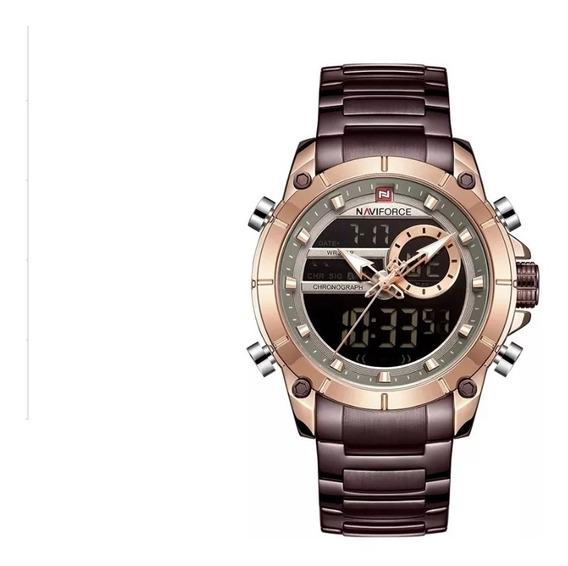 Relógio Masculino Naviforce Luxuoso Digital E Analógico