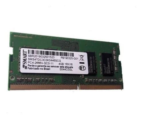Memória Notebook Smart 4gb Ddr4 2666 Mhz Sms4tdc3c0k0446scg