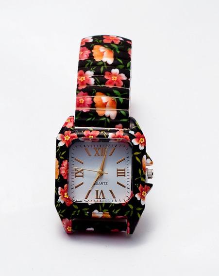 Relógio Feminino Flores + Caixa