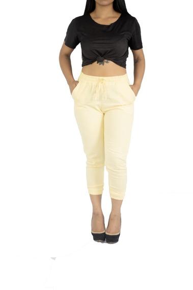 Calça Feminina Jogger Bomber Linho Coloridas Moda Blogueira