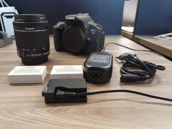Kit Canon T5i + Lente Kit + 2 Baterias + Adaptador Dc