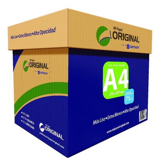 Resmas A4 2500 Hojas 75 Grs - Envio Gratis Comprando 2 Cajas