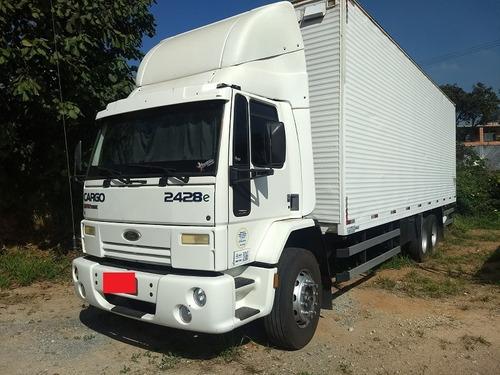 Caminhão Cargo 2428  Baú 10 Mtrs Trucado Ano 2009