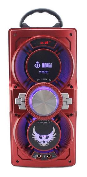 Caixa de som Infokit VC-M874BT portátil sem fio Vermelho 110V/220V