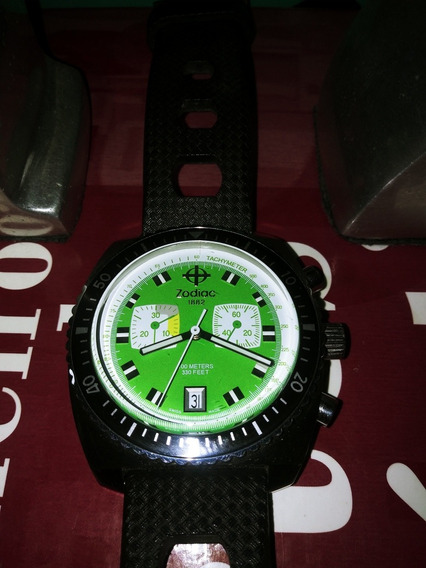 Relogio Sea Dragon Suisso - Fundo Verde