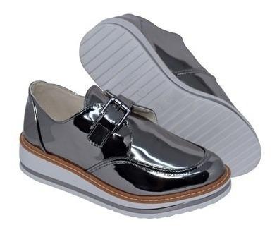 Sapato Menina Rio Flatform Espelhado