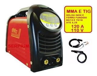 Maquina De Solda Inversora Mma E Tig 120a Dimaq Star 110v