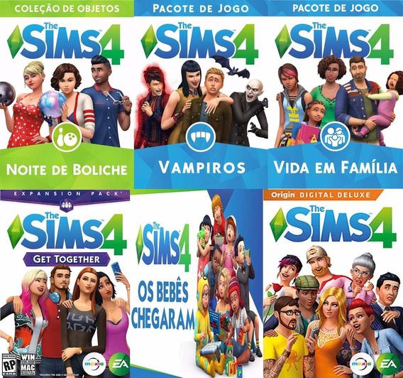 The Sims 4 Pc Base + Todas Dlc´s Atualizado 2019