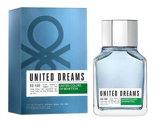 Imagem 1 de 5 de Perfume Benetton United Dreams Go Far 200ml + Amostra Grátis