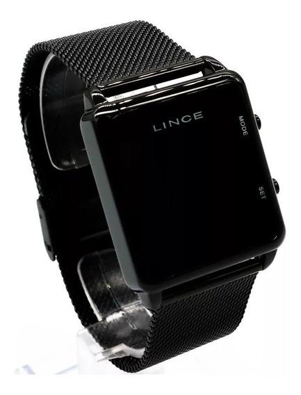 Relógio Unissex Lince Led Pulseira Em Aço Ref. Mdn4596l-pxpx