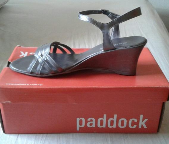 Sandalias Plateadas De Paddock Talle 39