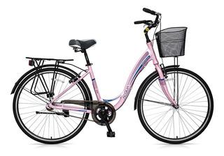 Bicicleta Gribom Acqua Dama Con Portaequipaje Rodado 28
