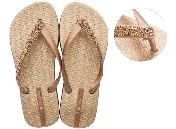 26149 Chinelo Ipanema Glam Special - Prata-dourado - 33 A 40