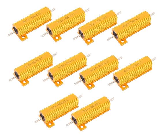 10 Peças 50w Alumínio Folheado Poder Wirewound Resistores
