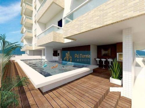 Imagem 1 de 10 de Apartamento Com 2 Dormitórios, 2 Suítes, Sacada Gourmet, 2 Vagas, À Venda, 90 M² Por R$ 510.000 - Boqueirão - Praia Grande/sp - T2b74a - Ap0141