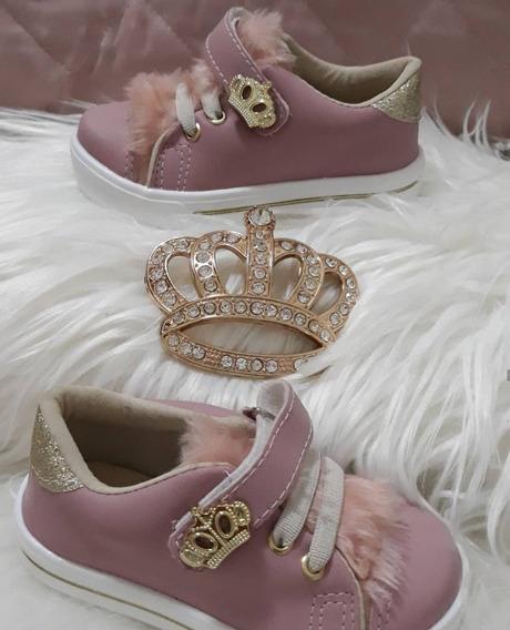 Tenis Menina Feminina Bebe Casual Infantil Princesa