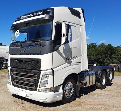 Volvo Fh 460 Globetrotter I-shift 6x2 Branco 2018 Impecável