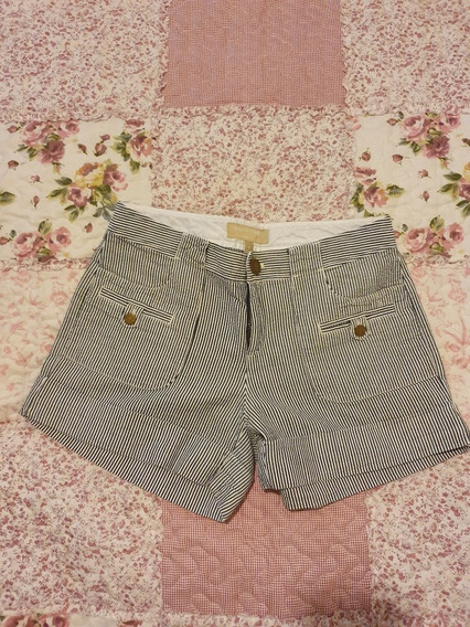 Short Banana Republic Rayado Azul Y Blanco
