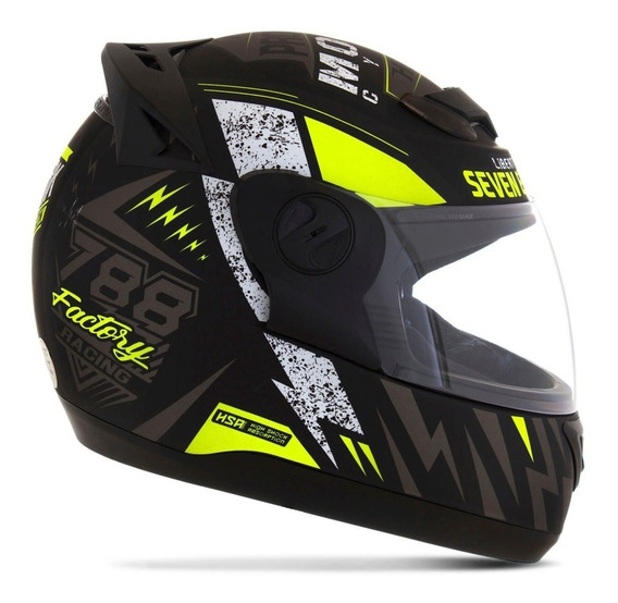 Capacete Moto Masculino Amarelo G6 Factory Racing Pro Tork