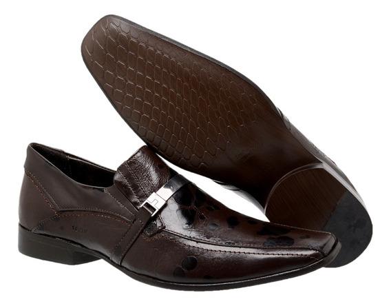 Sapato Masculino Couro Astúrias Brown 466004 - Frete Grátis