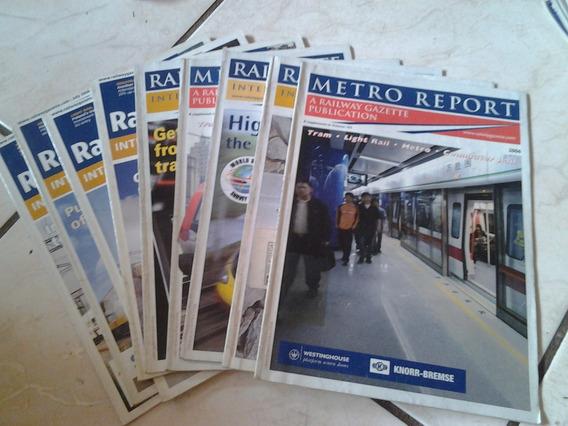 Lote De Revistas E Catálogos De Ferrovias Estrangeiras