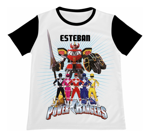 Camiseta Camisa Niño Power Rangers Algodon