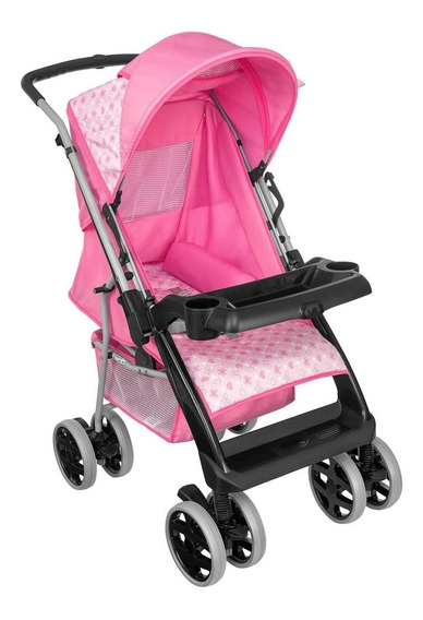 Carrinho De Bebê Berço Tutty Baby Thor Plus 03900133 - Rosa
