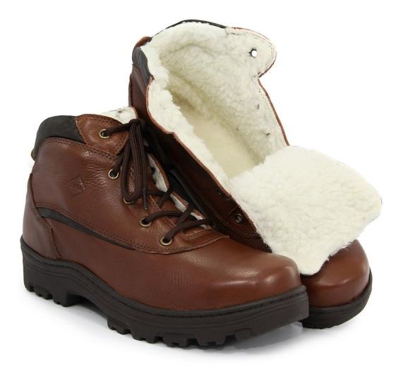Bota Impermeável Neve Masculina Forrada Lã