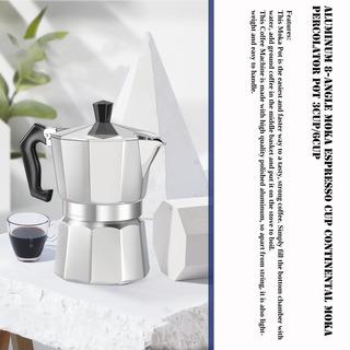 Alumínio 8- Ângulo Moka Pot Café Expresso Fogão Topo Caf