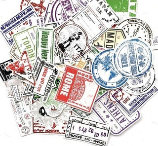 Adesivos Malas Viagem Personalize Kit Com 100 Carimbo Paises