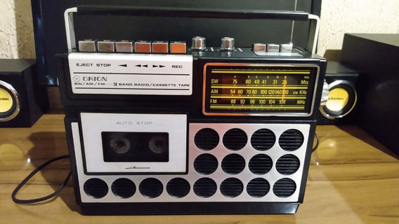 Radio Am/sw/fm E Fita Cassete Orion Modelo 1cr Antigo Leia