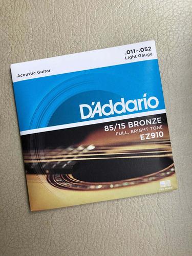 Encordado D'addario Guitarra Acustica Bronce .011