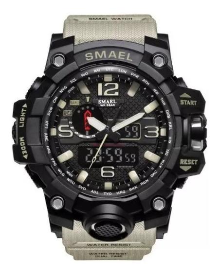Relógio Militar S-shock Masculino Smael A Prova Dágua