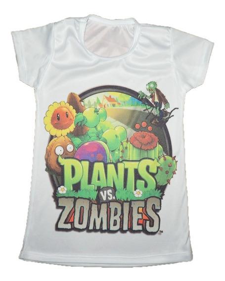 Playeras Lote 27, 27 De Niño Personaliza Plantas Vs Zombies