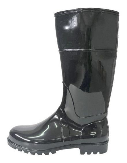 Bota De Lluvia Caña Larga Lisa Negra 35 Al 40 Proforce